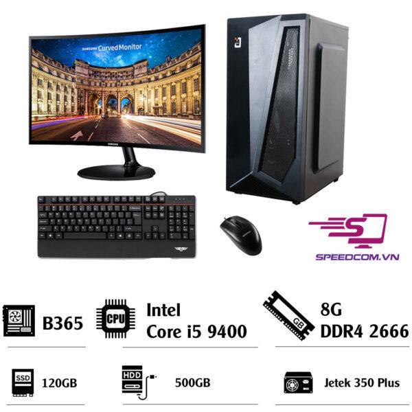 Bộ-máy-tính-B365--I5-9400--Ram-8GB--SSD-120GB--HDD-500G