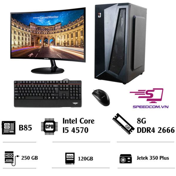 Bộ máy tính B85 - CPU i5 4570 - RAM 8GB - SSD 120GB - HDD 250GB