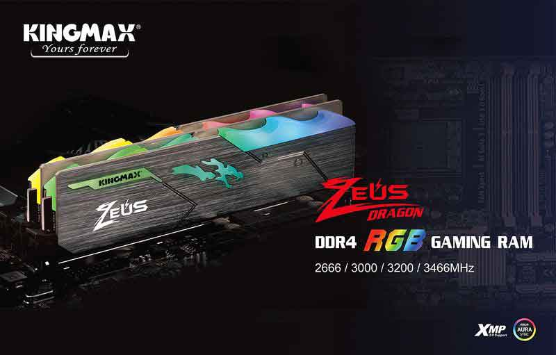 KIT RAM Kingmax Zeus RGB 16GB